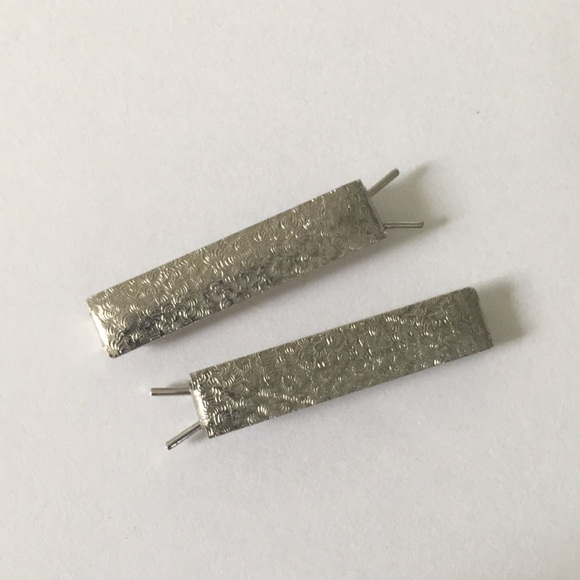 Vintage Accessories - 1940's 1950's Silver Barrettes Hair Clips